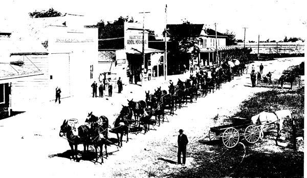 Main Street, Byron, circa 1910