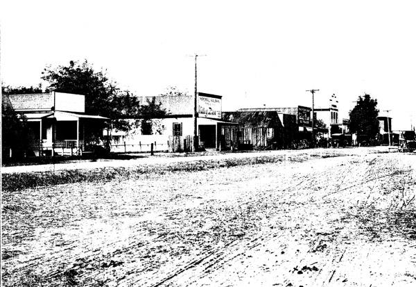 Knightsen Main Street, circa 1920