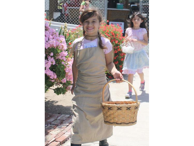 Girl with egg basket