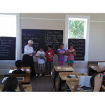Students in one-room schoolhouse