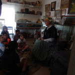 Docent talking in upstairs bedroom